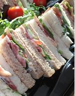 Meat Feast Sandwich Platter by Catering Heaven