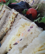 Vegetarian sandwich platter by Catering Heaven