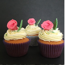 Vintage Rose Cupcakes by Catering Heaven