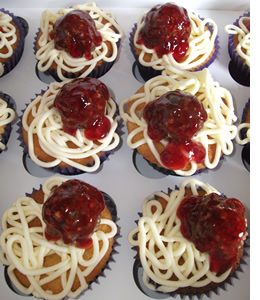 Meatball Cupcakes